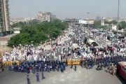 Farmers protest in Delhi for  fair prices for crops